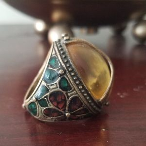 Lucky Brand Peace Sign Mood Ring